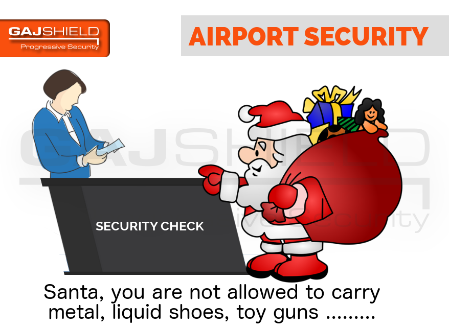Santa Security At Airport